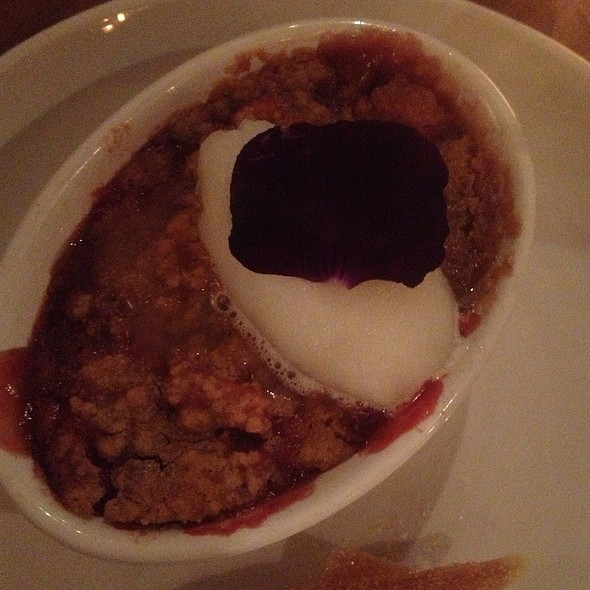 Rhubarb Crumble With Lemon Sorbet - Natural Selection, Portland, OR