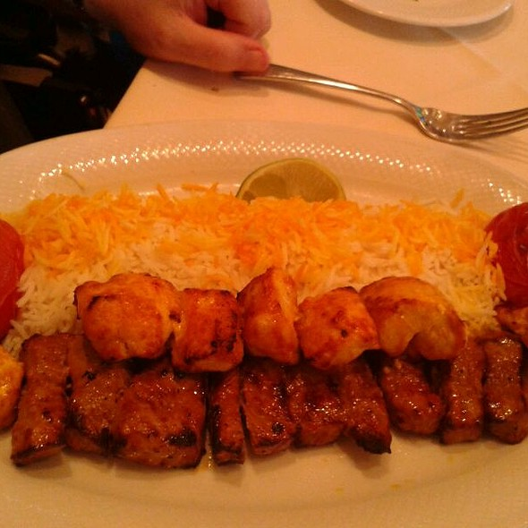 Chicken And Steak Kabobs - Yekta Kabobi Restaurant, Rockville, MD