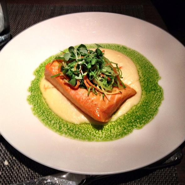 Slowly Cooked Salmon - Jean Georges Steakhouse - Aria, Las Vegas, NV