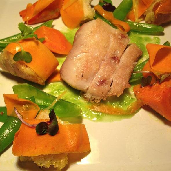 Pan seared Mahi with peas and carrots - Palace Cafe, Tulsa, OK