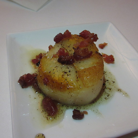 Diver scallops with bacon bits - Ristoranté Brissago, Lake Geneva, WI