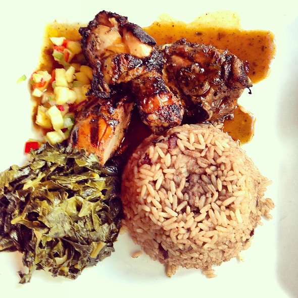 Jerk Chicken With Rice And Plantains, Jerk Dorade - Negril Village, New York, NY