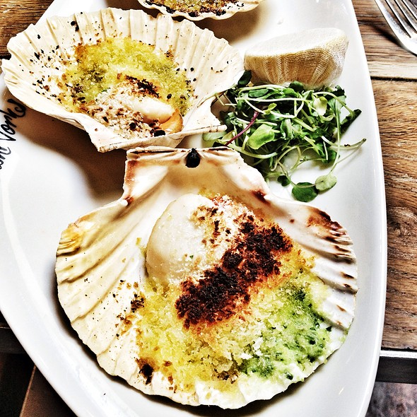 Grilled South Coast Scallops - Fishworks - Marylebone, London