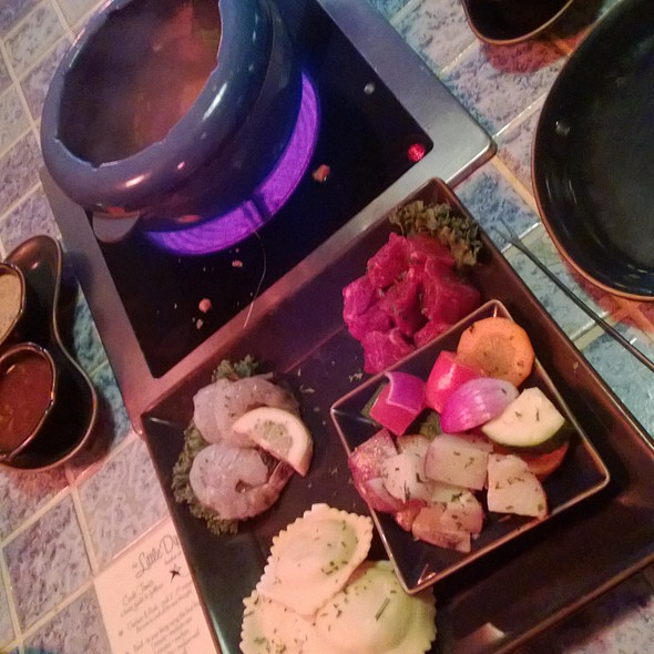 Surf and Turf Fondue - The Little Dipper, Wilmington, NC