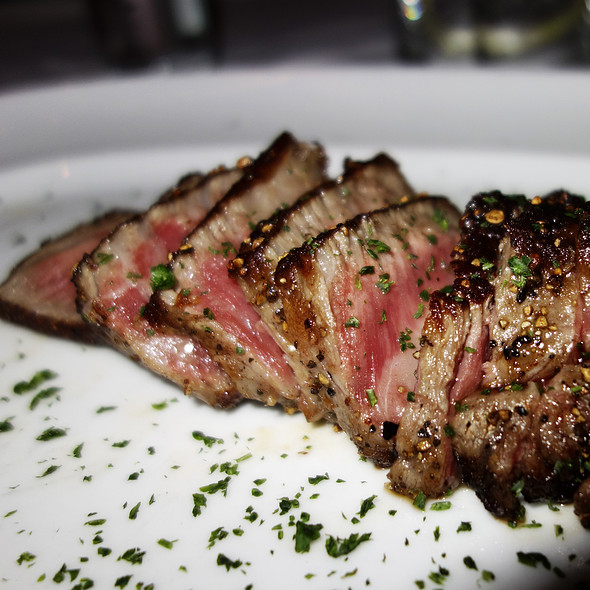 Sliced Peppercorn Sirloin Steak - Mastro's Steakhouse - Chicago, Chicago, IL