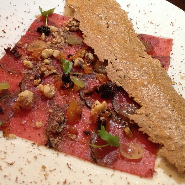 Venison Carpaccio - Restaurant R'evolution, New Orleans, LA