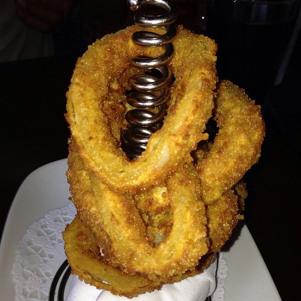 Stack Of Thick Cut Panko Onion Rings - 5 Napkin Burger - Upper West Side, New York, NY