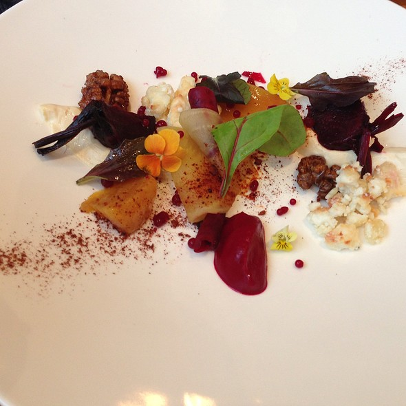 3 Way Heritage Beetroot Salad, Innes Goat's Cheese Mousse And Crumble, And Candied Nuts - The Laughing Gravy, London