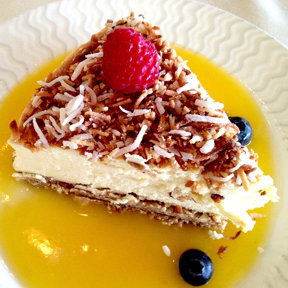 Coconut Rum Cheesecake - Steamers of Pismo, Pismo Beach, CA