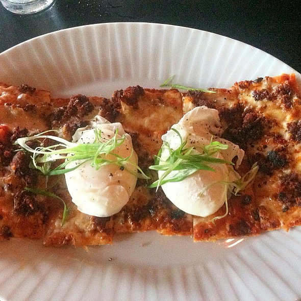 Breakfast Pizza Flatbread - Louie's Wine Dive - Kansas City, Kansas City, MO