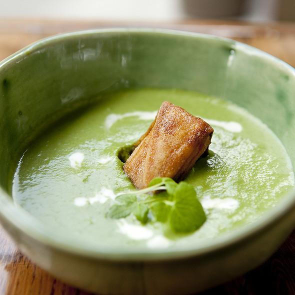 Spring Garlic Soup - Bouche, San Francisco, CA