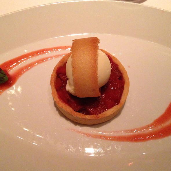 Rhubarb Tart With Goat Yogurt Ice Cream - Tocqueville, New York, NY