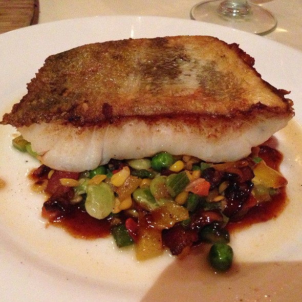 Pan Seared Cod With Succotash - Pazza Notte, New York, NY