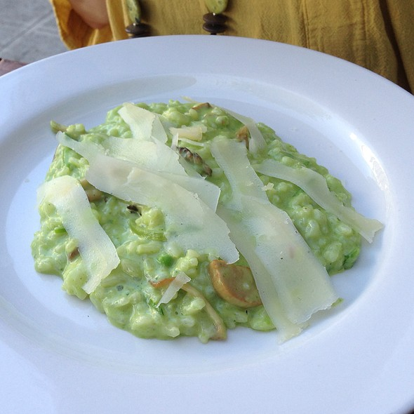 English Pea Purée And Wild Forest Mushroom Risotto - Bar Avignon, Portland, OR