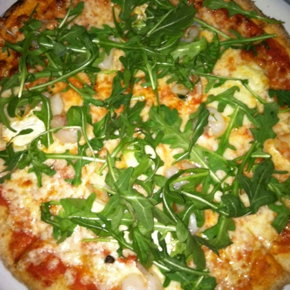 Shrimp, Brie, Arugula And Mozzarella Whole Wheat Pizza - Ribalta Pizza, New York, NY