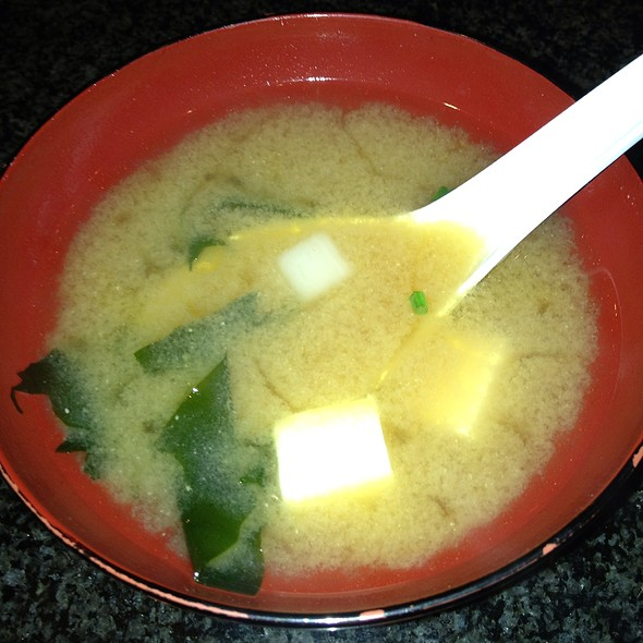 Miso Soup - Mikado Japanese Teppan Yaki - Marriott Cancun Resort, Cancún, ROO