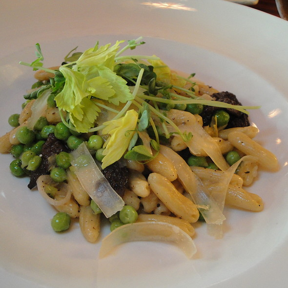 Pasta with English Peas and Morels - Dahlia Lounge, Seattle, WA