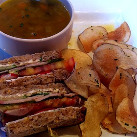 Lunch Trio - Garden Sandwich, Soup Of The Day And House Chips - Webster House, Kansas City, MO