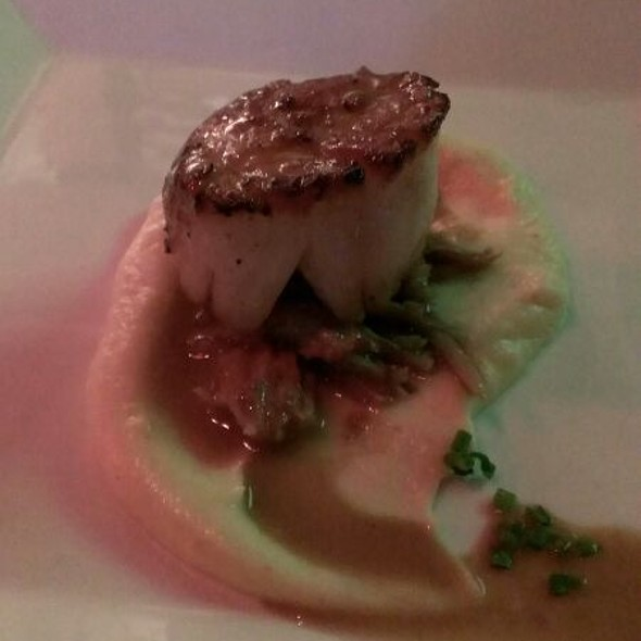 Scallop With Pulled Pig Tail - Spencer's for Steaks and Chops - Omaha, Omaha, NE