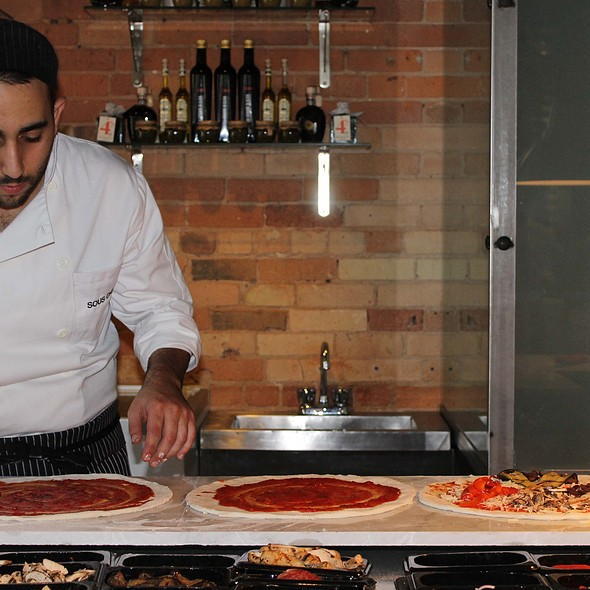 Pizza making - Cibo Wine Bar King St West, Toronto, ON