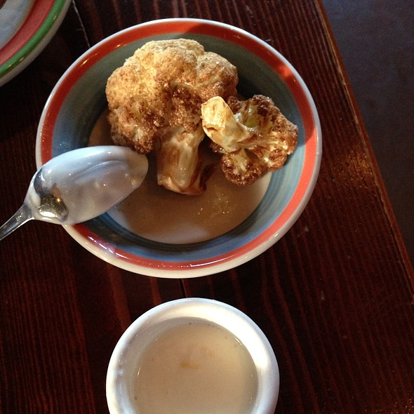 Fried Cauliflower with Lemon Fraiche - Firehouse Restaurant, Portland, OR