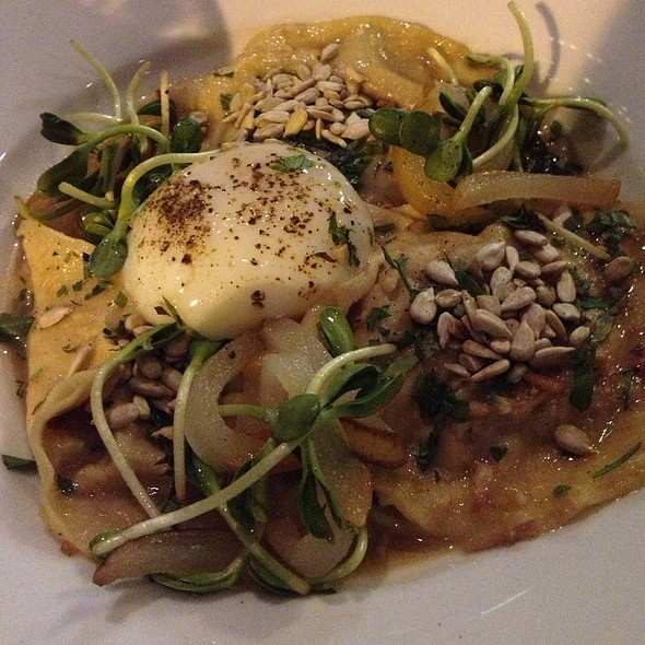 Suckling Pig Ravioli And Poached Duck Egg - Second Bar + Kitchen, Austin, TX