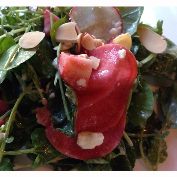 Pickled Radish And Watermelon Rind Salad - Black Pearl Restaurant, Denver, CO