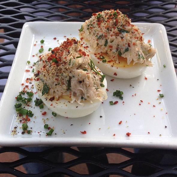 Crab Deviled Eggs - Monti's Rotisserie & Bar, Santa Rosa, CA