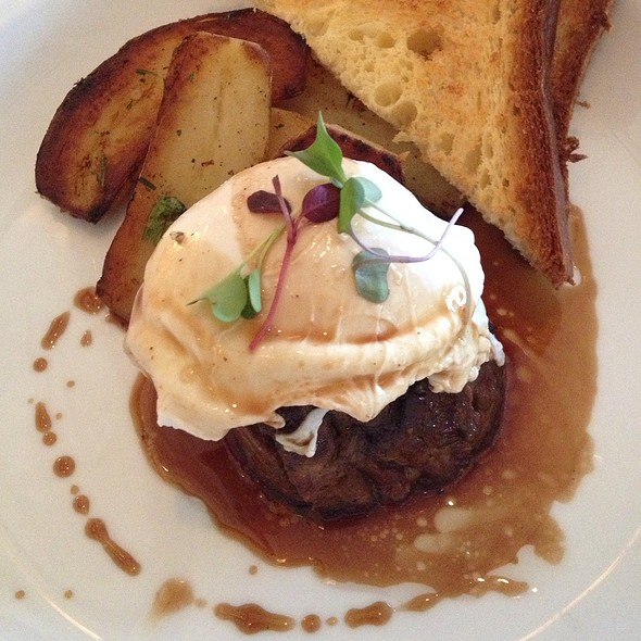 Braised Shortribs And Poached Egg - Restaurant Lorena's, Maplewood, NJ