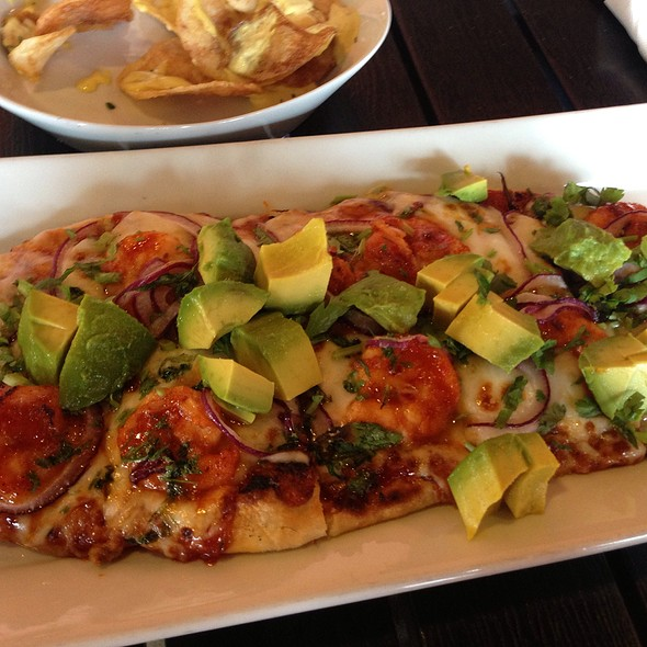 Bbq Shrimp Flatbread - Picante Latin Fusion Restaurant, Los Angeles, CA