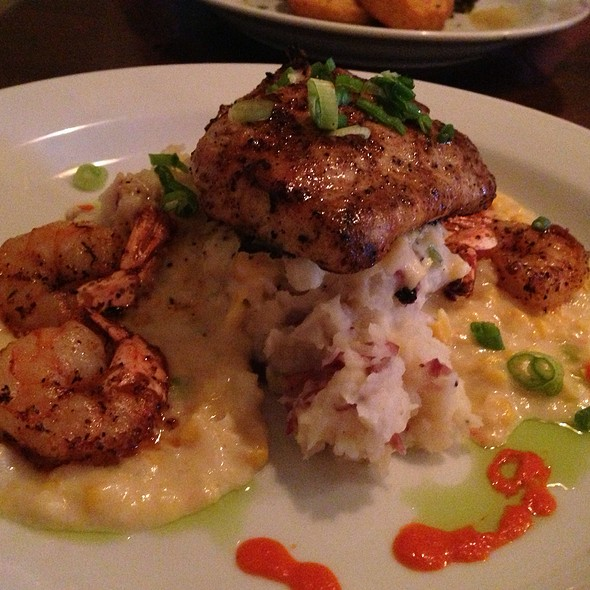 Grilled Mahi Mahi And Shrimp - The Bistro at Just Baked, Surf City, NC