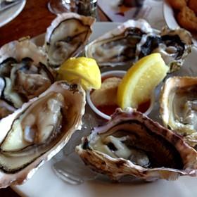 Fanny Bay Oysters On The Half Shell - Enterprise Fish Co. - Santa Barbara, Santa Barbara, CA