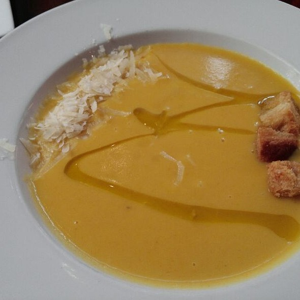 Roasted Yellow Pepper Soup - Via Vite, Cincinnati, OH
