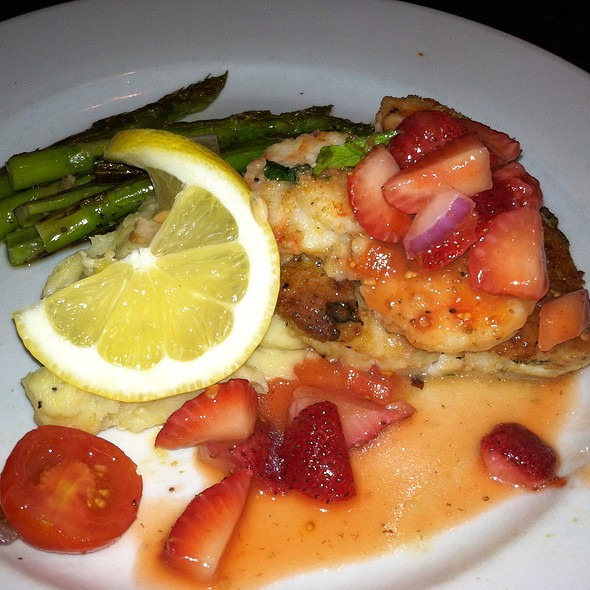 Lightly Breaded Grouper With Smoked Shrimp And Strawberry Mango Salsa, Mashed Potatoes And Grilled Asparagus - Limoncello - West Chester, West Chester, PA