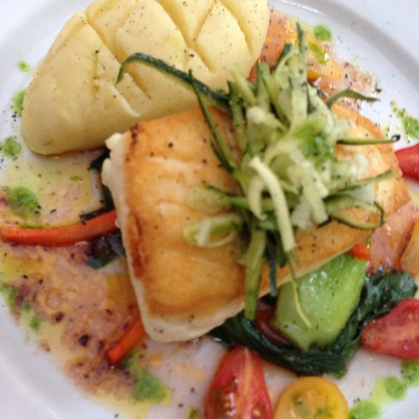 Halibut Special - PAON Restaurant & Wine Bar, Carlsbad, CA