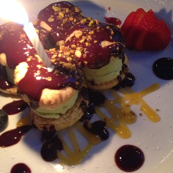 My Special Birthday Dessert - PAON Restaurant & Wine Bar, Carlsbad, CA