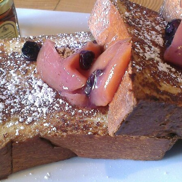 Brioche French Toast With Peach Blueberry Compote And Maple Syrup  - Scampo at The Liberty Hotel, Boston, MA