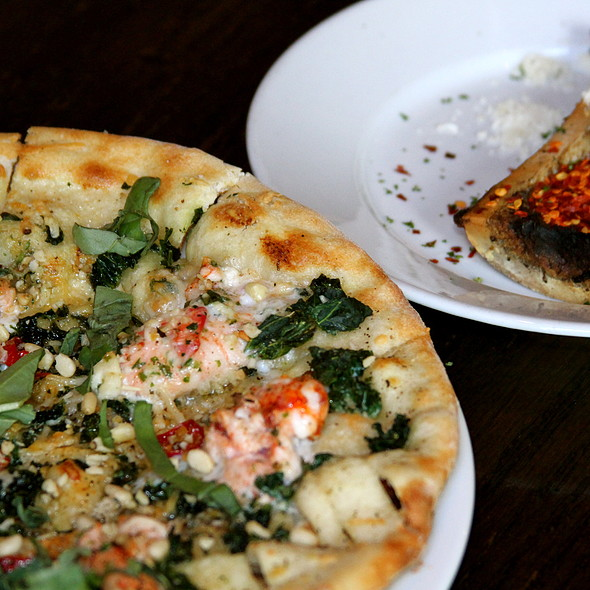 Lobster & Citrus Bone Marrow Pizza - Il Villaggio Osteria, Teton Village, WY