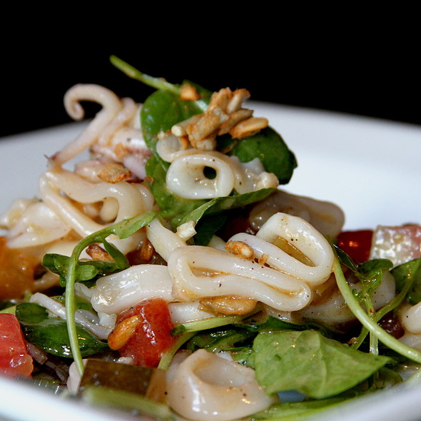 Calamari & Pickled Watermelon Salad - Il Villaggio Osteria, Teton Village, WY