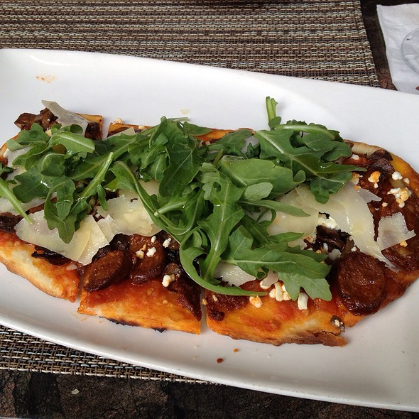 Lamb Sausage And Goat Cheese Flatbread Pizza - Andrei's, Irvine, CA