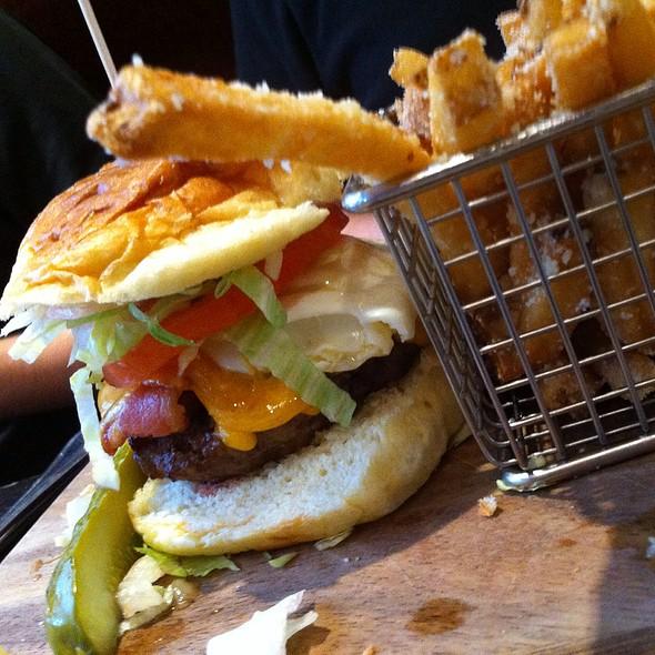 Hangover Burger With Fried Egg - Stone Street Tavern, New York, NY