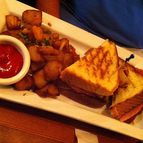 Breakfast Grilled Cheese With Egg And Country Ham - Amity Hall, New York, NY