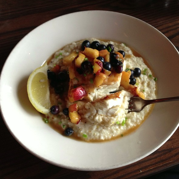 Seared Halibut - The Wayfarer Restaurant and Lounge, Cannon Beach, OR