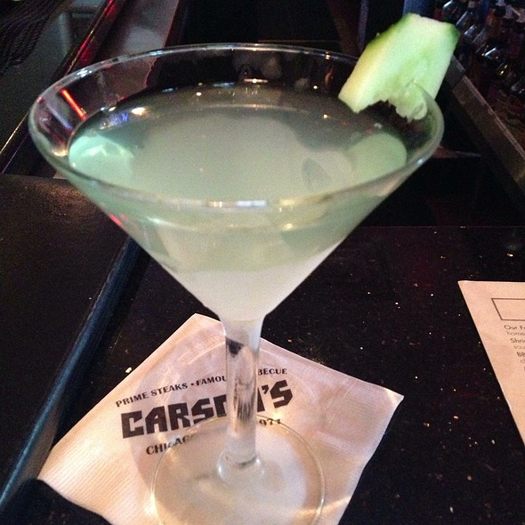 Cucumber Martini - Carson's Prime Steaks & Famous Barbecue - Deerfield, Deerfield, IL