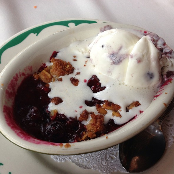 Summer Berry Cobbler - Landfall Restaurant, Woods Hole, MA