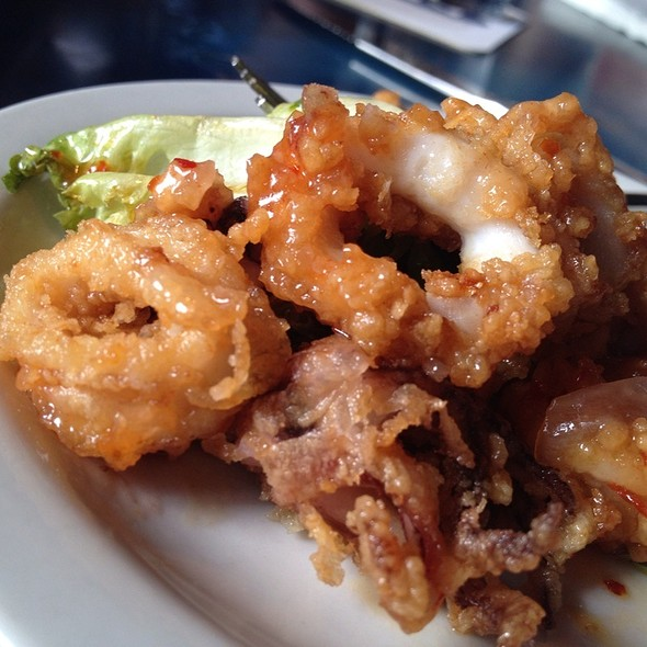 Asian Chili Sauced Calamari - Aarons Fishcamp, Siesta Key, FL