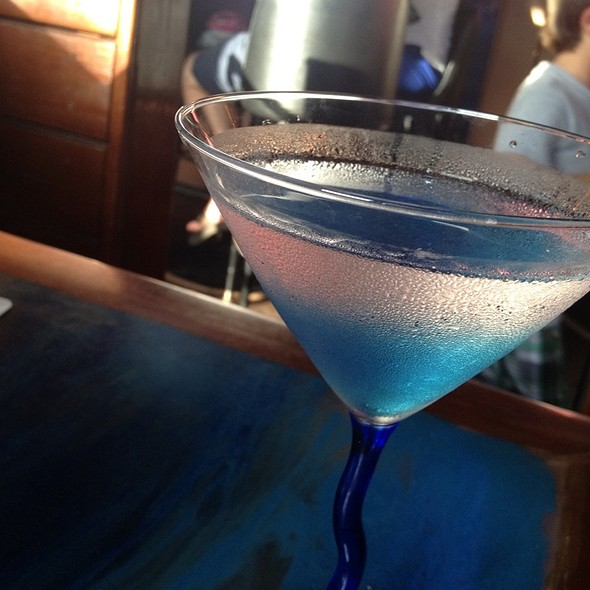 Blueberry Martini - Aarons Fishcamp, Siesta Key, FL
