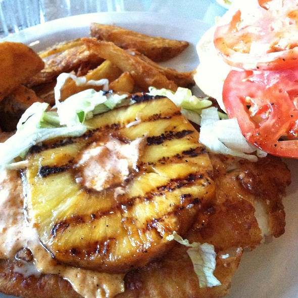 Fried Grouper Sandwich & Potato Wedges - Montano's - Roanoke, Roanoke, VA