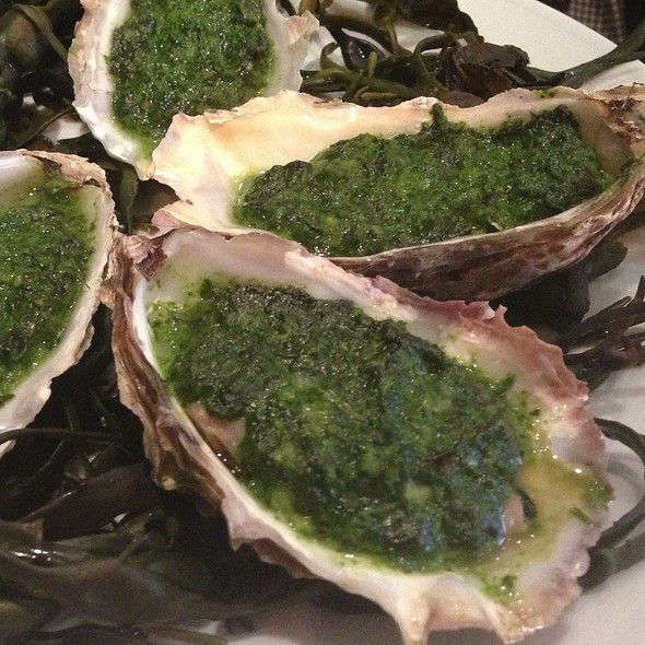 Oysters Rockefeller - Bentley's Oyster Bar & Grill, London