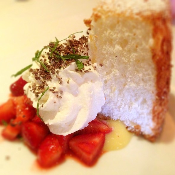 Angel Food Cake With Lemon Curd - Mille Fleurs, Rancho Santa Fe, CA